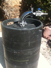 Keg With Hardware